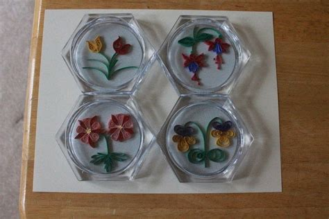 quilled coasters  coaster quilling  cut