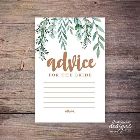 Bridal Shower Advice Cards Template by 14 Advice Card Designs Templates Psd Ai Free
