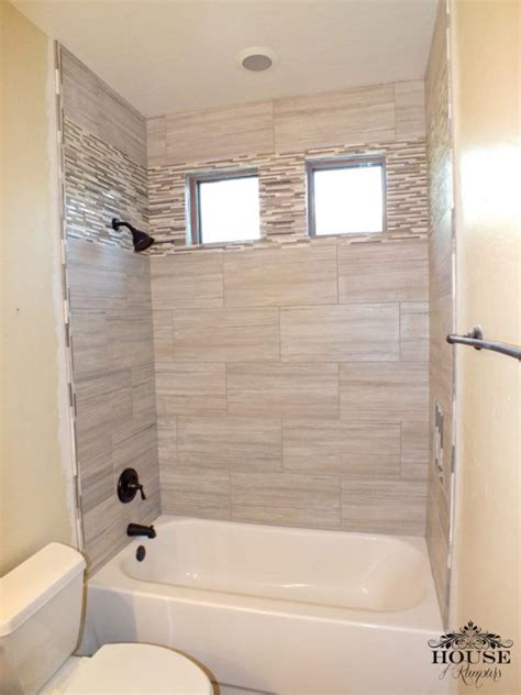 love this bathroom 12� x 24� greige porcelain tile