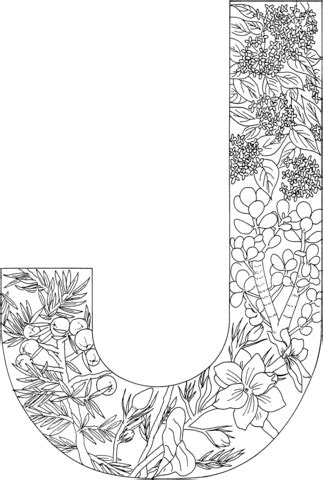 letter   plants coloring page  printable coloring pages