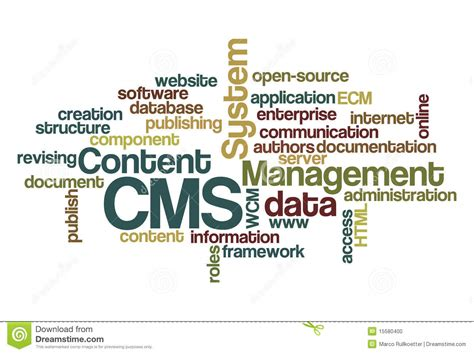 Cms Content Management System  Wordcloud Stock. Simple Signs. Owl Signs. Tiger Signs. Clipart Preschool Signs Of Stroke