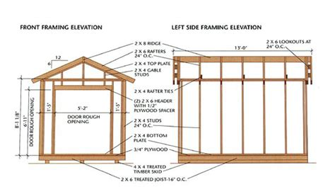Free Shed Plans 8x12 Gable by Free 8 215 12 Gable Roof Shed Plan Diy Woodworking Plans