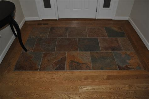 slate and wood floor chesterfield project job finished wood with slate tile traditional st louis by classic