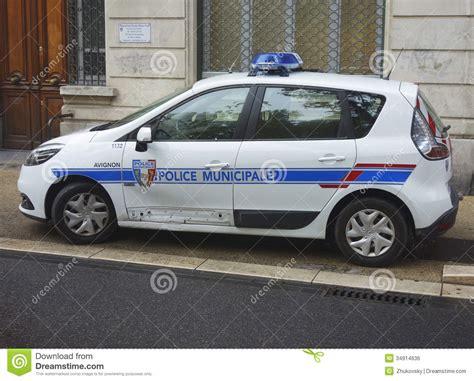 France Police Car Cartoon Vector