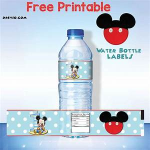 free printable mickey mouse water bottle label free With free water bottle stickers