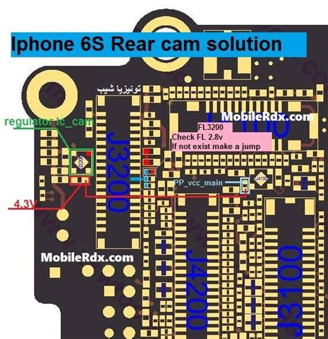 iphone back not working iphone 6s rear problem jumper solution