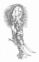 Elf Dark Deviantart Mitchfoust Drawing Sketches Coloriage Adulte Dessin Coloring Drawings Fantasy Adult Tattoos Mandalla Zen Coloriages Elfe Beast Rider sketch template