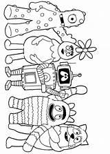 Gabba Yo Coloring sketch template