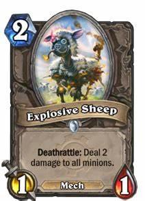 Explosive Sheep Hearthstone Cards
