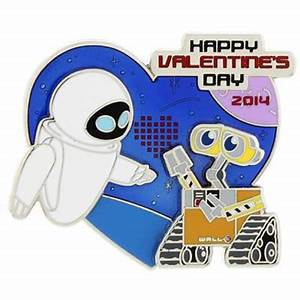 Disney Valentine's Day Pin - 2014 - Wall-E and Eve