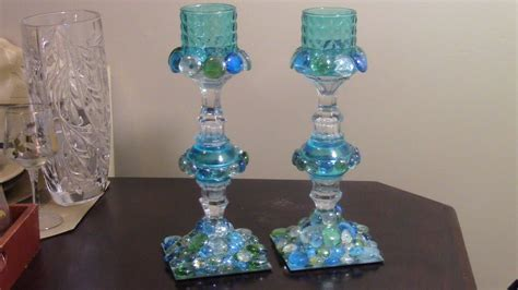 dollar tree candle holders diy dollar tree inspired gem candle holders