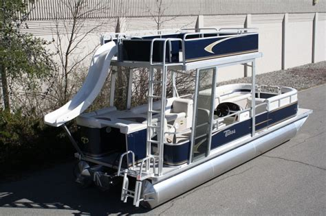 deck pontoon boat with slide 2014 tahoe grand island 24 pontoon boat with slide for sale