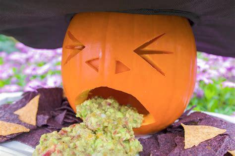 pumpkin puke guacamole   disgusting halloween