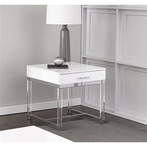 modern white  table everett rc willey furniture store