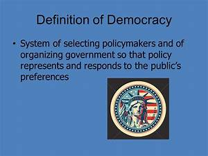 Theories of Democratic Government - ppt video online download
