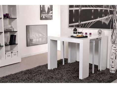 table console extensible conforama console extensible l 180 cm max olga coloris blanc brillant vente de console conforama