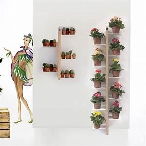 Porte Plante Interieur Design : porte plantes de design moderne zia flora suspendu fixer au mur ~ Teatrodelosmanantiales.com Idées de Décoration