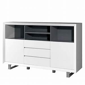 Sideboard Weiß Grau : sideboard center wei grau ~ Orissabook.com Haus und Dekorationen