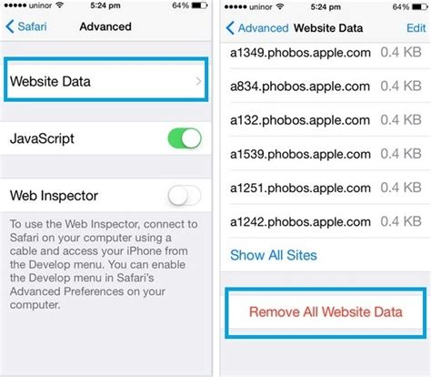 how to delete data from iphone how to delete website data from safari in ios 10 9 8