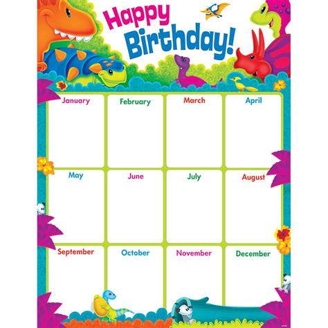 Birthday Chart Template For Classroom by Birthday Chart Clipart 32