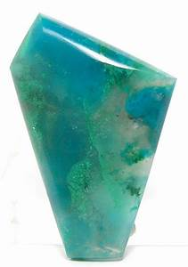Gem silica Blue Chrysocolla Green Malachite in Chalcedony ...