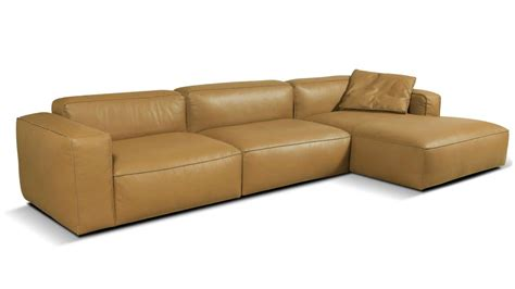 chaise com lanza large 3 seater leather chaise sofa vavicci