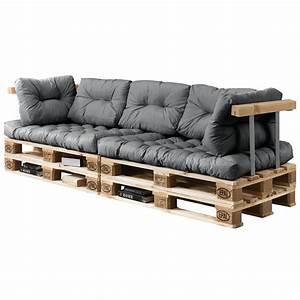 Paletten Couch Kissen : euro paletten sofa 7x sitz r ckenkissen hell grau kissen auflage in garten ~ Orissabook.com Haus und Dekorationen