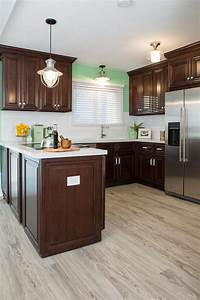 photo page hgtv With kitchen cabinets lowes with green and brown wall art