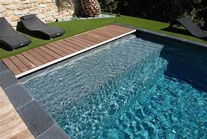 nos realisations avec liner gris ardoise reynaud piscines With piscine avec liner gris