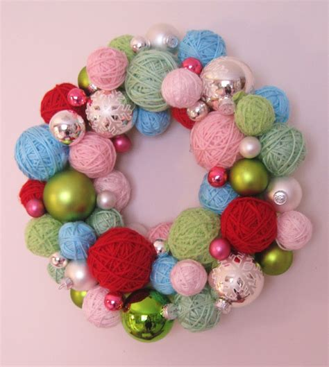 Christmas Yarn Ball Wreath