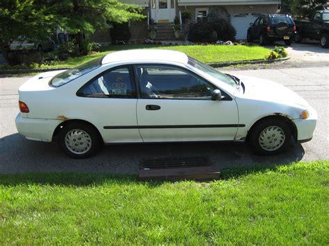nj  honda civic dx coupe white auto  mpg reduced
