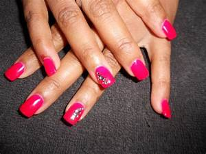 Ongles En Gel Rose : full color rose et strass ongles en gel bruxelles ~ Melissatoandfro.com Idées de Décoration