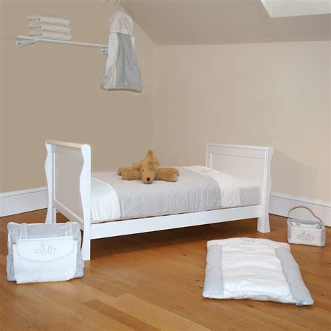 Buy Bed by 4baby 3 In 1 Sleigh Cot Bed With Deluxe Foam Mattress