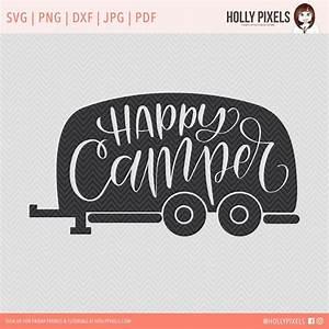 Happy Camper SVG Cut File @creativework247 Silhouette