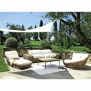 Salon De Jardin Osier : salon de jardin en osier naturel jardin ~ Dallasstarsshop.com Idées de Décoration
