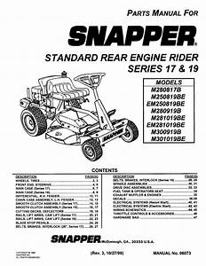 Snapper Riding Lawn Mower Parts Diagram