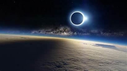 Wallpapers 1080p Desktop Clouds Milky Way Eclipse