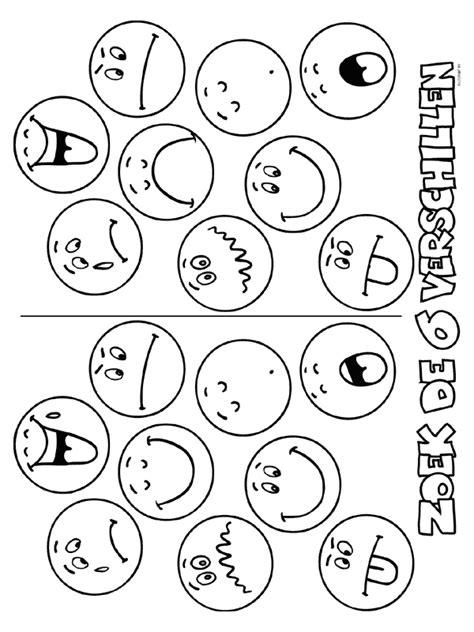 Kleurplaten Emoties by Kleurplaat Zoek De 6 Verschillen Kleurplaten Nl Papier