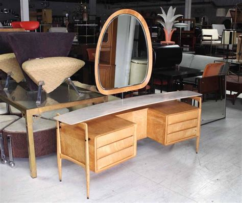 mid century vanity table mid century italian modern vanity dressing table for