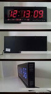 Ht4819sm, 7, Aluminum, Large, Digital, Led, Wall, Clock, Big, Watch, Modern, Design, Digital, Clock, Led