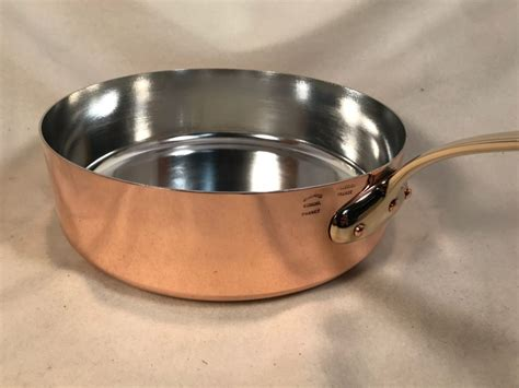 french   tin lined copper saute pan rocky mountain retinning