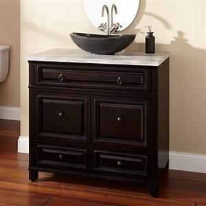 Bathroom black wooden bathroom vanities with black bowl for White bathroom vanity with black countertop