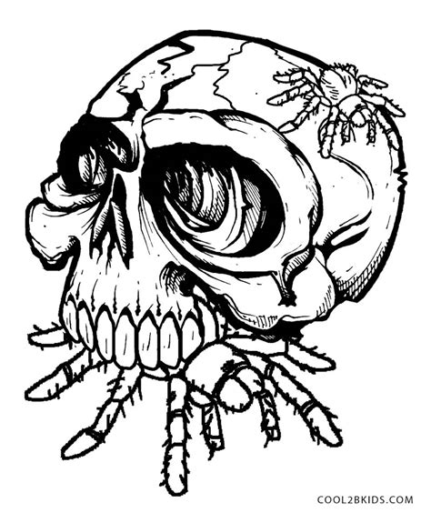 skull coloring book printable skulls coloring pages for cool2bkids