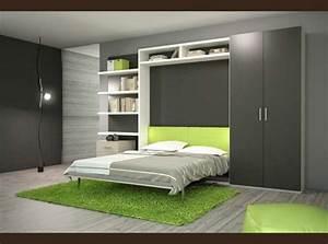 Lit Avec Tv Escamotable : l 39 armoire lit escamotable pour plus d 39 espace ~ Nature-et-papiers.com Idées de Décoration