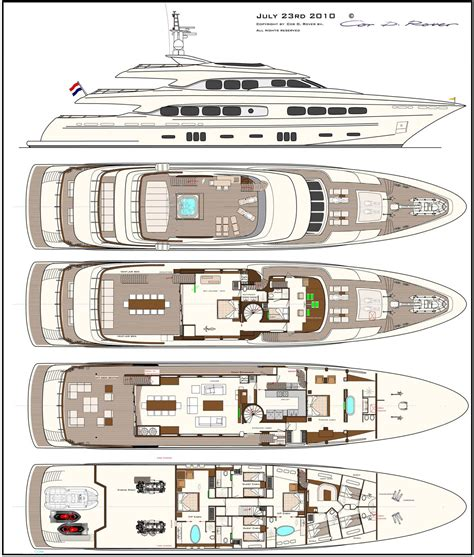 Yacht Plans by Latitude Layout Yacht Builders Motor