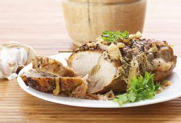 Let rest about 10 minutes. How to Cook a Pork Loin Roast With Olive Oil in Aluminum Foil | Baked pork loin, Cooking pork ...
