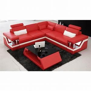 Canapé Lit D Angle : canap d 39 angle design en cuir v ritable tosca l lit convertible ~ Teatrodelosmanantiales.com Idées de Décoration