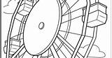 Ferris Wheel Template Coloring Pages Printable Fair Coming Spring Wheels Summer sketch template