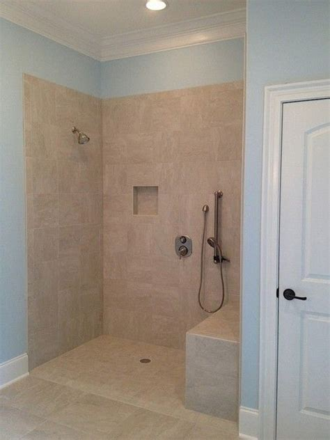 wheelchair accessible shower  master bath controls accessible sitting  standing bathroom