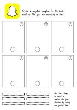 Snapchat Template Snapchat Storyline Review Template Mitosis Templates